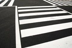 The crosswalk Stock Images