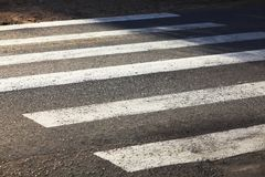 Crosswalk asphalt background zebra road Royalty Free Stock Photos