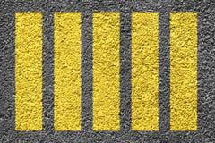 Crosswalk Background. Yellow Zebra crosswalk  on the asphalt Stock Photography