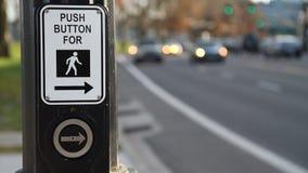 Crosswalk Button stock video