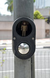Crosswalk button Royalty Free Stock Image