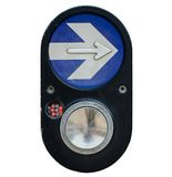 Crosswalk Button. On white background Royalty Free Stock Photos