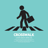 Crosswalk Graphic Sign Stock Image