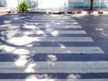 Crosswalk i mini ulica Obraz Stock