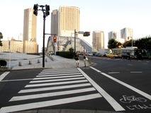 Crosswalk i roweru pas ruchu obrazy stock