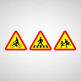 Crosswalk icon great for any use. Vector EPS10. Royalty Free Stock Photos