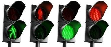 crosswalk lights Στοκ Εικόνες