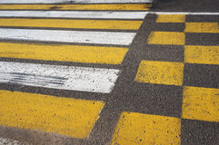 crosswalk Marcação do cruzamento pedestre imagens de stock royalty free