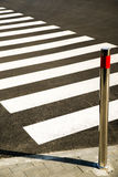 Crosswalk markings painted on the asphalt in the city Stock Photography