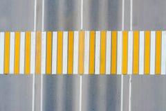 crosswalk Mening van hierboven stock foto's