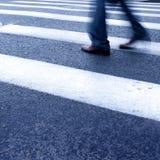 Crosswalk and pedestrian Royalty Free Stock Photos