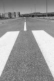 Crosswalk. A pedestrian crossing in a city street cradle Royalty Free Stock Photo