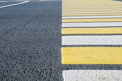 Crosswalk  pedestrian crossing through a street Royalty Free Stock Image