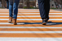 Crosswalk and people Stock Image