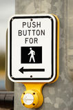 CROSSWALK. Push button for walk signal button Royalty Free Stock Image