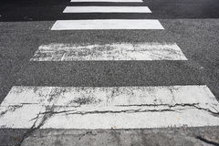 Crosswalk on the road Stock Image