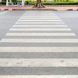 Crosswalk on road in city, pattern Stock Image