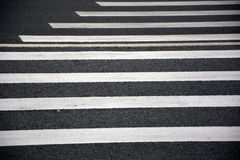 Crosswalk at the road Royalty Free Stock Photo