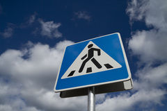 Crosswalk road sign Stock Photography