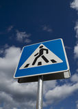 Crosswalk road sign Stock Images