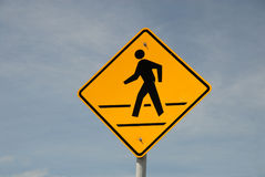 Crosswalk road sign Royalty Free Stock Photo