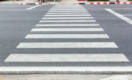 Crosswalk on the road Stock Photo