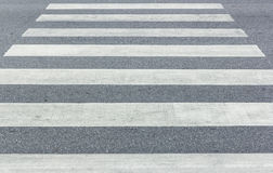 Crosswalk on the road Stock Photos