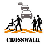 Crosswalk safety Royalty Free Stock Images