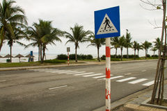 Crosswalk on the seafront Stock Photography
