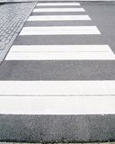 A crosswalk. A shot of a crosswalk-zebra royalty free stock images