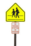 Crosswalk sign Royalty Free Stock Photos