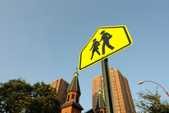 Crosswalk Sign Royalty Free Stock Images