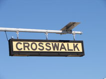 Crosswalk sign Stock Image