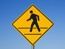 Crosswalk sign Stock Photo