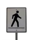 Crosswalk sign. Isolated Crosswalk sign Royalty Free Stock Image