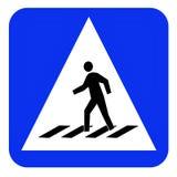 Crosswalk sign board Stock Image