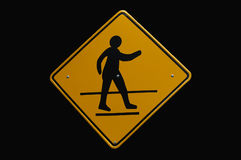 Crosswalk sign Stock Photography