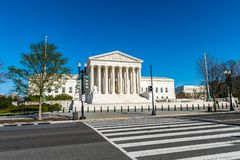 Crosswalk Stany Zjednoczone sąd najwyższy zdjęcia royalty free