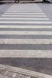 Crosswalk. Traffic walk way in the city royalty free stock image