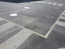 Crosswalk vazio Fotografia de Stock