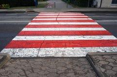 crosswalk Voetgangersoversteekplaats het merken royalty-vrije stock foto