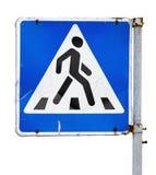 Crosswalk znak Zdjęcia Stock