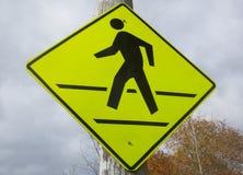 Crosswalk znak Obraz Stock