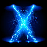 Crosswise lightning lines Royalty Free Stock Images