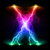 Crosswise lightning lines Royalty Free Stock Photography