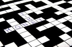crossword łamigłówka Fotografia Royalty Free