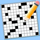 crossword łamigłówka Zdjęcia Stock