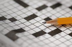Crossword łamigłówka Obrazy Royalty Free