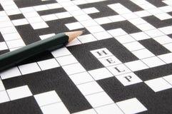 crossword łamigłówka Fotografia Stock