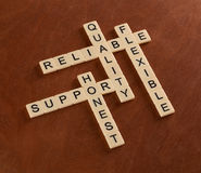 Crossword łamigłówka z słowa poparciem, ilość rzetelna, elastyczny, zdjęcia stock